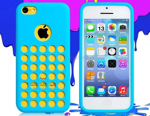 case protector funda agujeros huecos silicona para iphone 5c