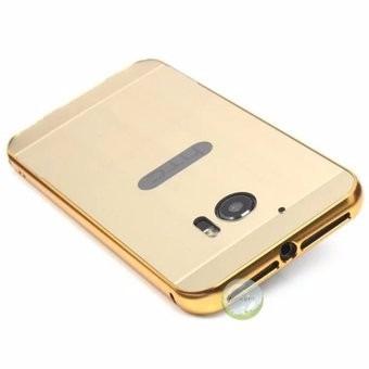 case protector funda carcasa aluminio espejo dorado htc 10