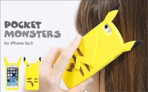 case protector funda carcasa pokemon pikachu iphone 4 / 4s