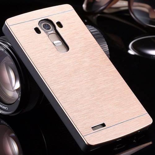 case protector funda cover aluminio cromado dorado lg g4