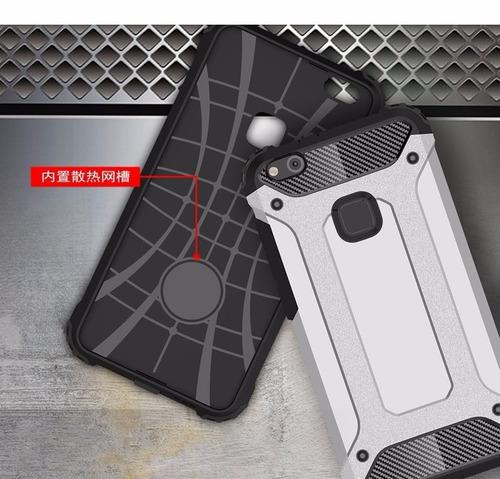 case protector funda cover armor tech plateado huawei p10