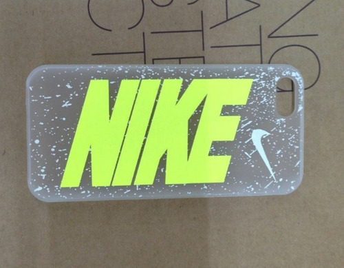 case protector funda nike transparente iphone 5 / 5s / se