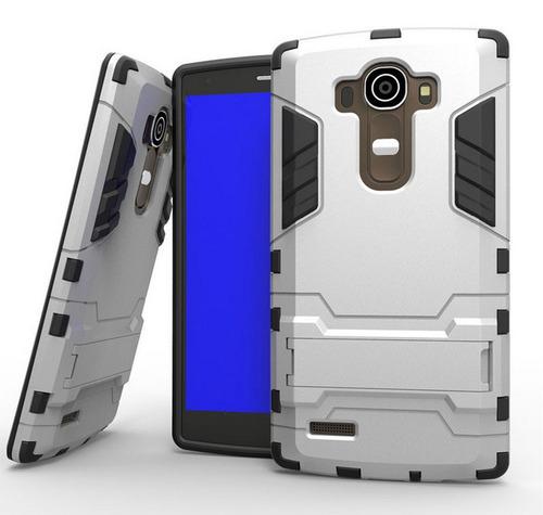 case protector funda touch armor ironman plateado lg g4