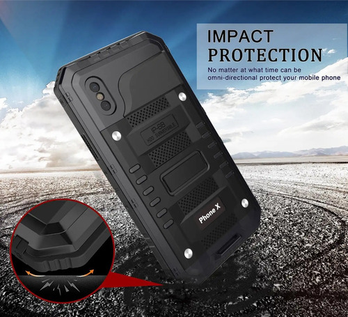 case protector iphone 6 7 8 sumergible heavy duty metal