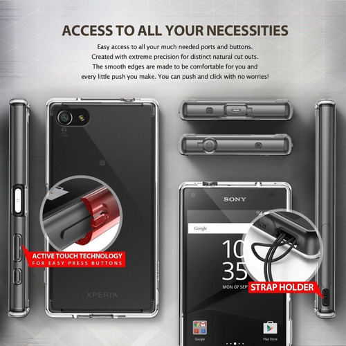 case protector ringke fusion - sony xperia z5 compact