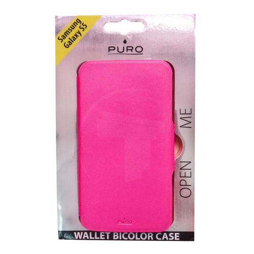 case protector telefono samsung galaxy s5 puro rosado