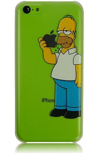case  protector transparente de homero simpson iphone 5c