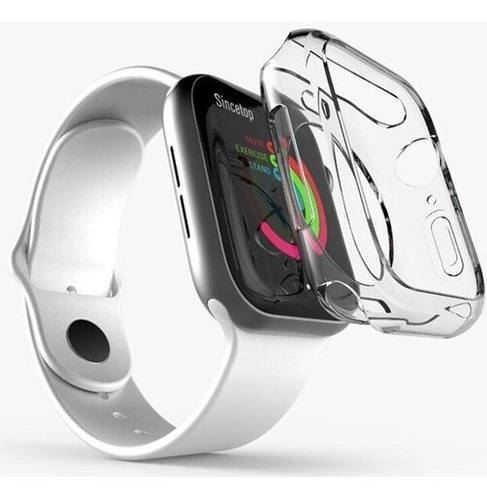case protetor tpu p/ apple watch serie 4/5 transparente 40mm