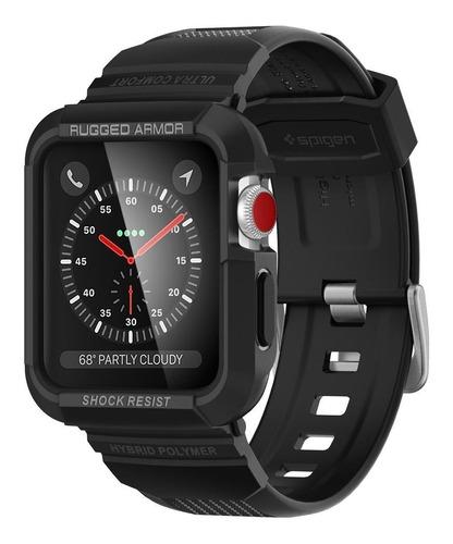 case pulseira spigen apple watch 42mm rugged armor pro black
