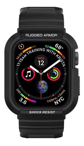 case pulseira spigen apple watch s4 44mm rugged armor pro