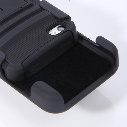 case rigido iphone 5, 5s holster clip resistente caidas