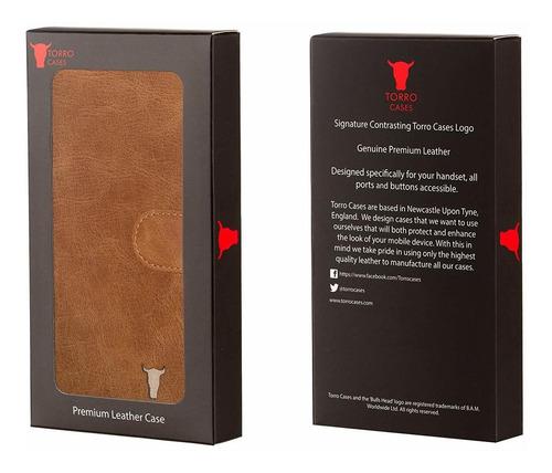 case s6 galaxy / wallet. premium tan ee.uu. carpeta de cuero
