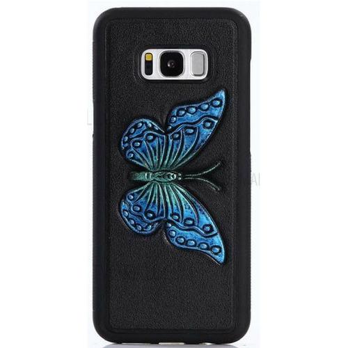 case samsung galaxy s8 plus mariposa azul