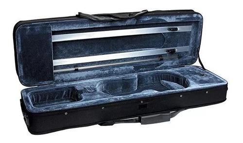 case semirigido rectangular liviano para violin 4/4 - 3/4