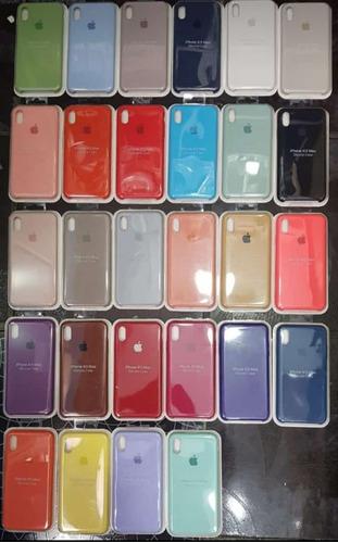 case silicona apple iphone x/ xs max / xr / xs + mica vidrio