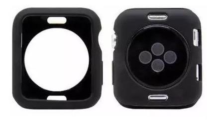 case silicone (tpu) relógio apple watch + película nanogel