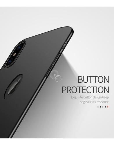 case thin fit delgado mate @ iphone xs xr xs max 7 8 y plus