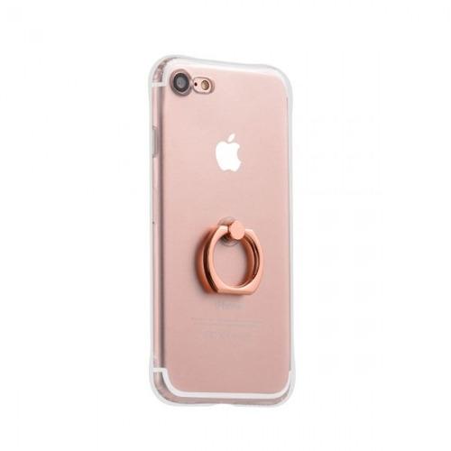 case tpu para iphone 7/8 hoco rosa/dorado metal finger