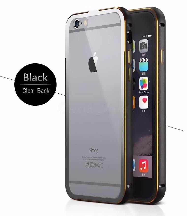 8176aed70bf case transparente iphone 6 6s bumper aluminio tapa clear. Cargando zoom.