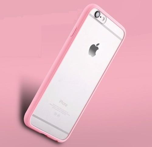 case transparentes de goma colores iphone 6s y plus