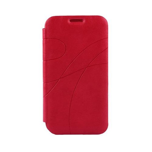 case vermelho em couro para galaxy s4 mini+película+frete