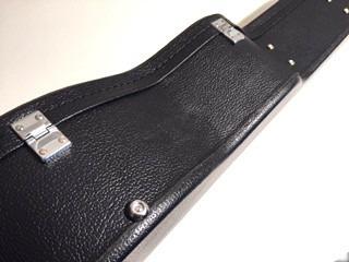 case violão folk solid sound vintage preto estojo rígido