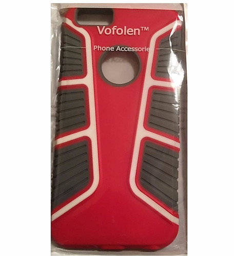 case vofolen para iphone 6s/6 plus 5.5   rojo/negro