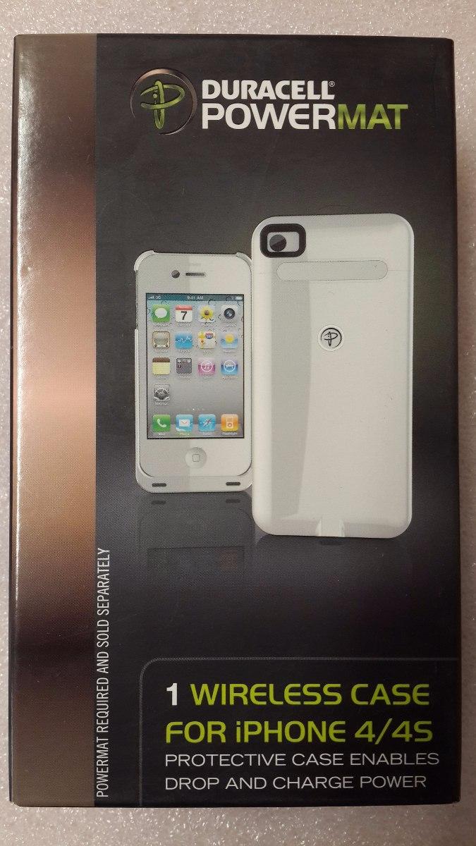 new arrival bd3d0 4ce1a Case Wireless Cargador Duracell Para iPhone 4 Y 4s Blanco
