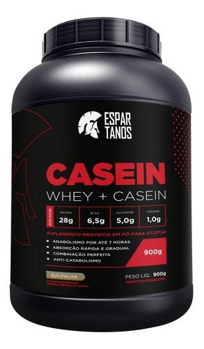 casein protein whey 900g - espartanos ( whey + casein )