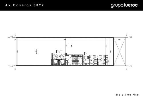 caseros av. 3300 - parque patricios - oficinas planta libre - alquiler