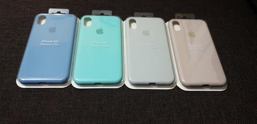 cases silicona apple iphone 6 al xs max+mica de vidrio