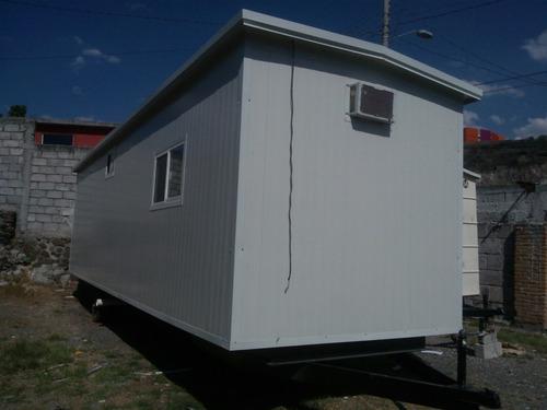 caseta oficina móvil 2.5x8.5m p/obra - renta o venta!