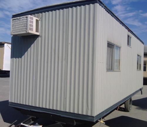 caseta oficina movil 8x24 pies camper remolque c/ wc para 4