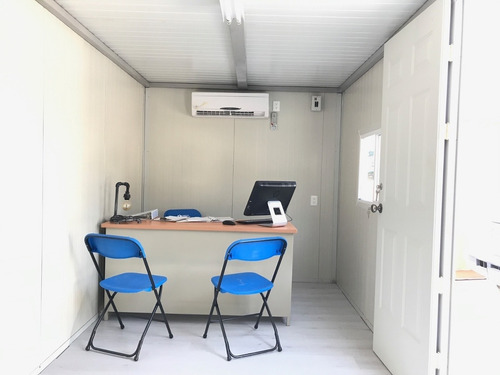 caseta / oficina móvil sin remolque 2.5 x 6.00m - jaiser