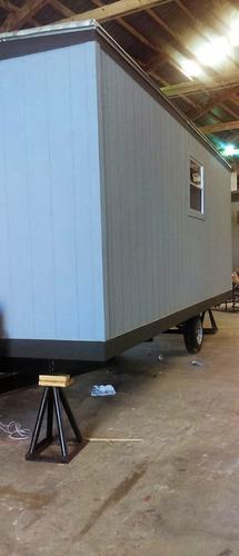 caseta remolque camper oficina movil 8x24 pies para 6 c/ wc