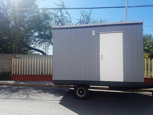 caseta remolque camper oficina movil nueva p / 3 pers con wc