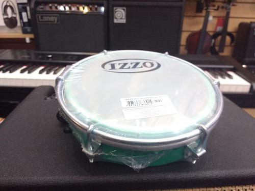 caseta tamborín izzo 3691 aro verde con baqueta liverpool