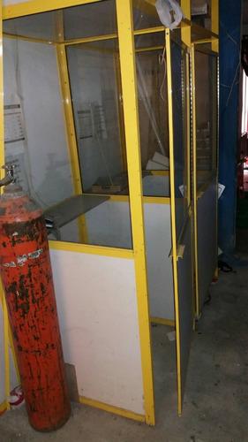 casetas telefonicas vidrio y aluminio