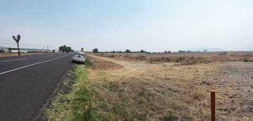 casi 6 hectáreas a pie de autopista méx-pach.