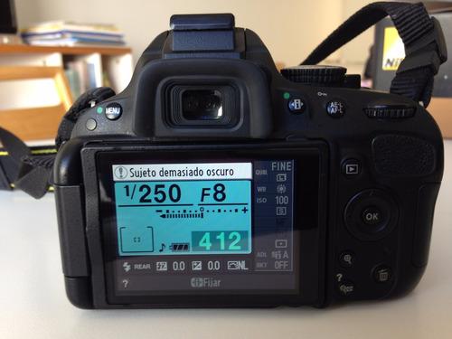 casi nueva, nikon d5100. con lente 18-70