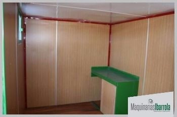 casilla económica con baño 4.50 x 2.00 m2 camas