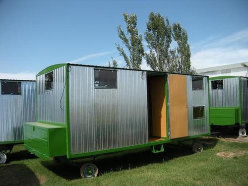 casilla economica rural de 5 x 2,20 mts de 4 camas y baño