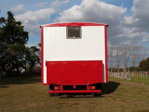 casilla rural 7,40 mts, 6 camas, agua caliente, tres ejes