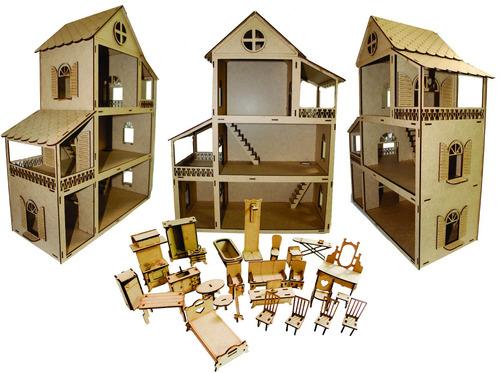 casinha casa boneca polly pockt +27 moveis