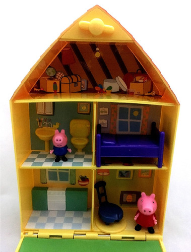 casinha casa peppa pig completa acessórios e jardim - dtc