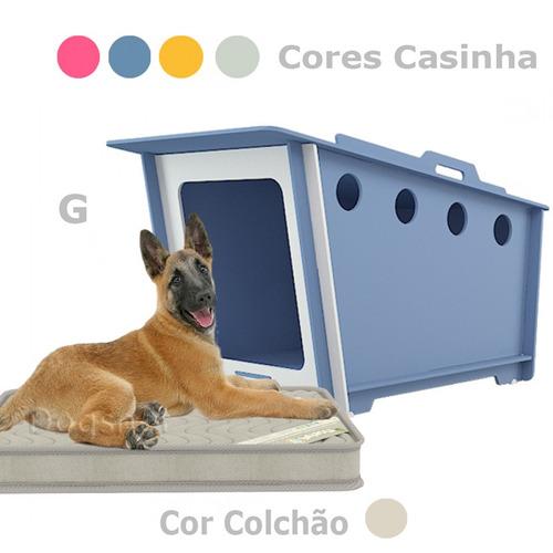 casinha de cachorro grande + colchão - mdf impermeável- haus