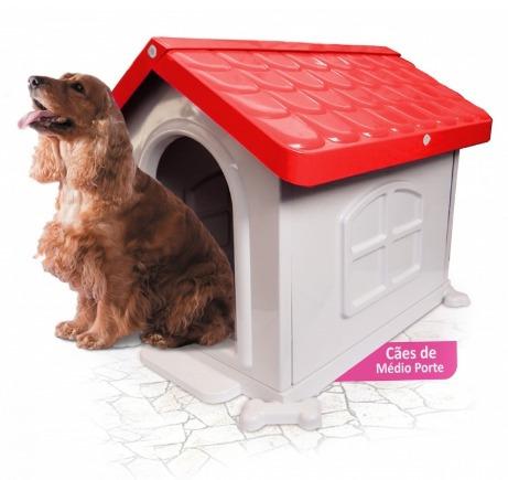 casinha de cachorro grande desmontável vemelha n° 3 injet