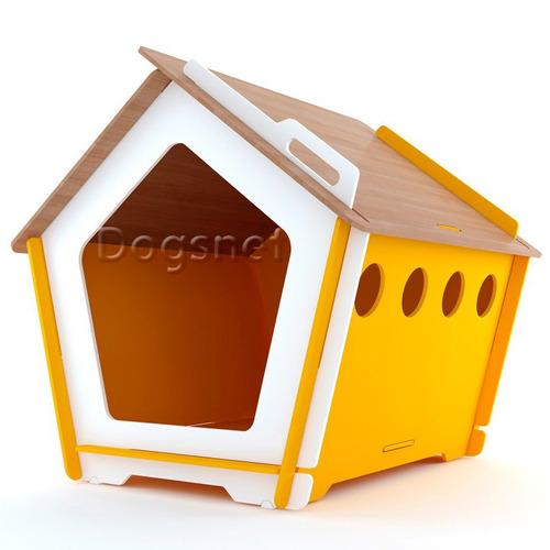 casinha de cachorro grande - king g + colchão g - madeira