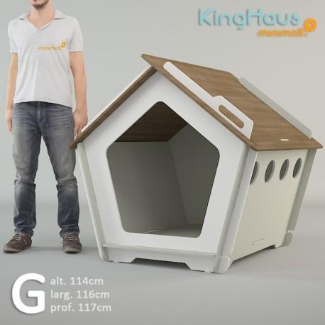casinha ecológica de cachorro grande kinghaus + cores g
