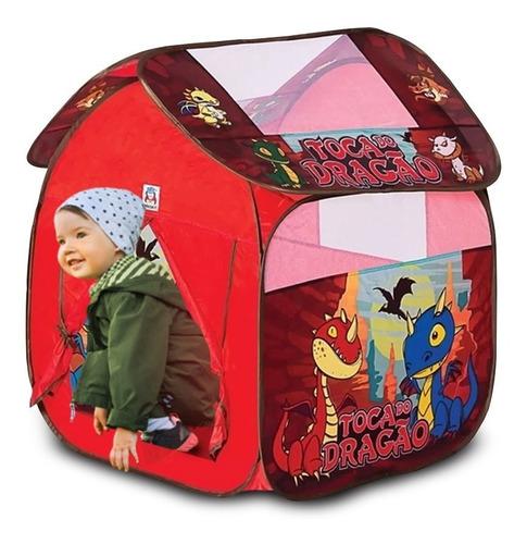 casinha infantil cabana toca dragão tenda barraca grande